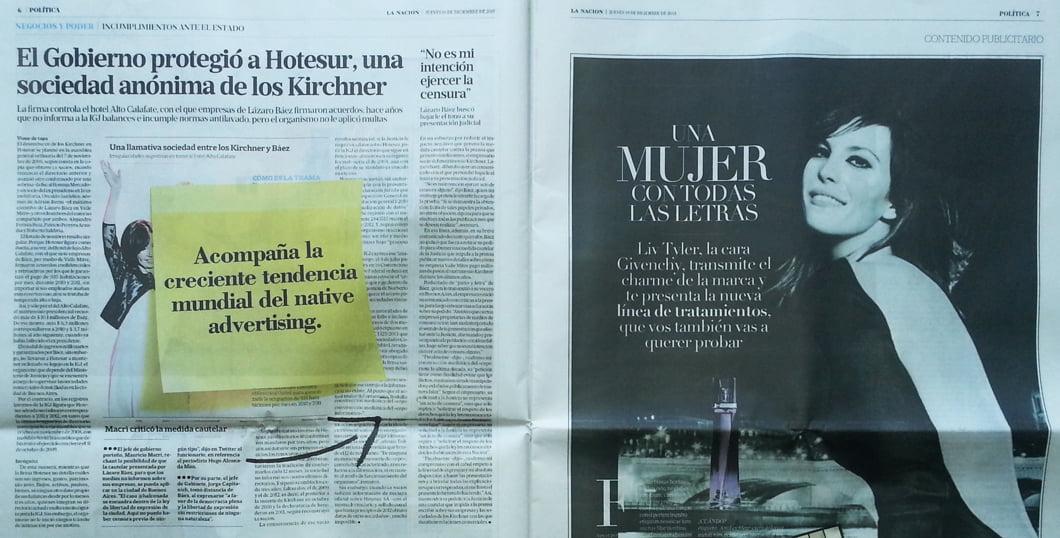 Dilemas éticos en torno a las publinotas: el caso de La Nación