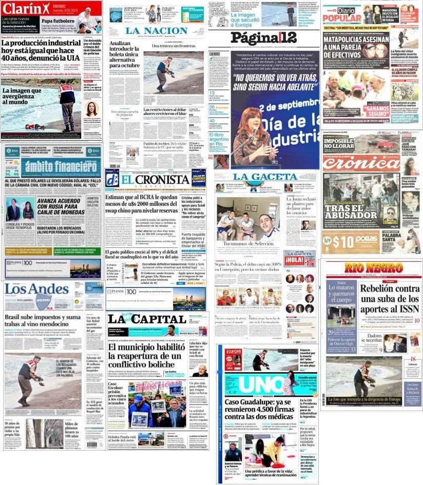 Los diarios de Buenos Aires sobre papel siguen cayendo en picada