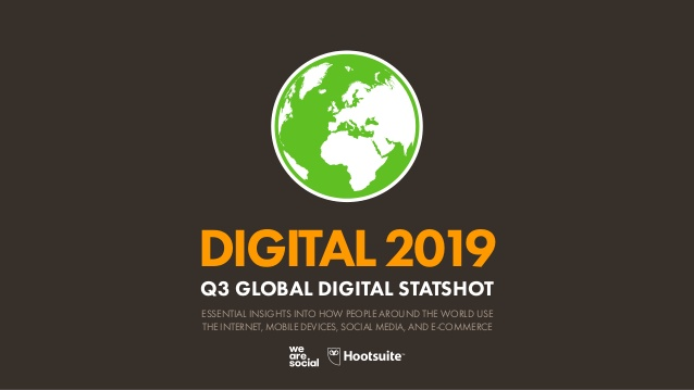 Datos del mundo digital global en el 2019