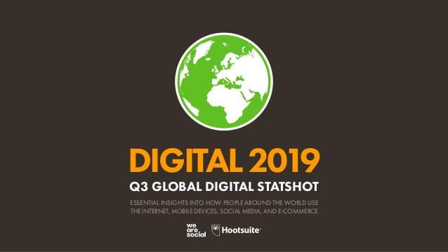 Datos del mundo digital global en el 2019