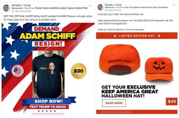 La campaña de Donald Trump en Facebook