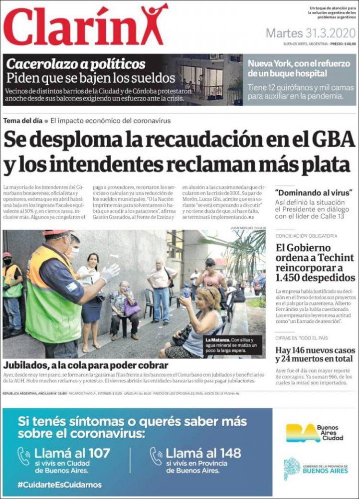 La pandemia en los diarios argentinos