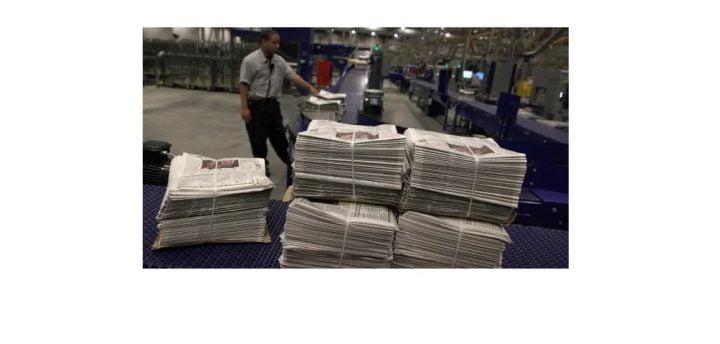 Derrumbe de la circulación de diarios en Estados Unidos